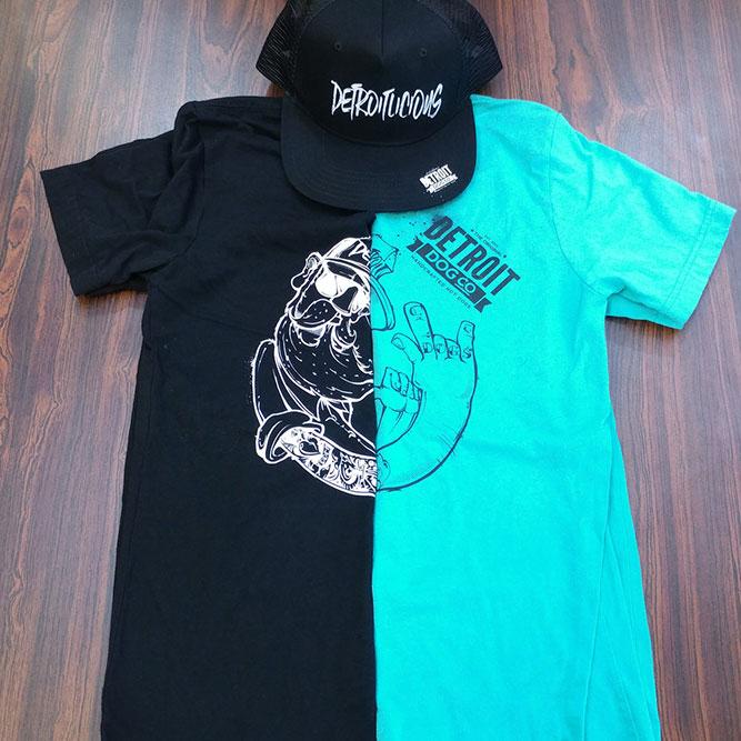 high contrast t-shirt designs